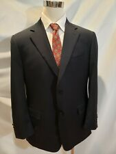 Canali Suit Jacket Navy Blue F/Cuffs 2 Button Wool Pick Stitching 2 Vent Sz 46R