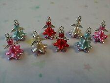 8 Pcs Belle Handmade Bell Flower Angel Fairy Charms