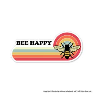 Retro Bee Happy Nature Sticker Earth Wild Decal Car Vinyl