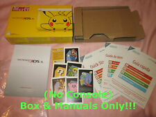 ~ (No Console) Box & Manual Only ~ 3DS XL Pikachu Yellow Edition ~ Original
