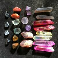 Natural Quartz Crystal Rainbow Angel Aura Point Sphere Mineral Reiki Healing