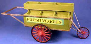 Vegetable vendor's cart  -  1/12 scale  dollhouse miniature