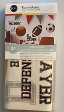 RoomMates 24 SPORTS peel and stick wall decals, NEW