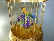 EXC. VINTAGE FRENCH BONTEMS SINGING BIRD CAGE AUTOMATON MUSIC BOX FULLY RESTORED