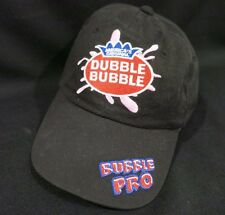 Dubble Bubble Chewing Gum Bubble Pro Promo Black Adjustable Hat Cap Youth Size