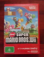 New Super Mario Bros. Game (Nintendo Wii + Wii U) AU 4 Players ~ Great Cond
