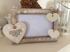 Shabby personalised Chic Photo Frame In Memory Of A Loved One 6 X 4 Rustic