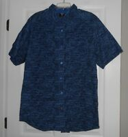 "Blue Gear Apparel ""Slub2 Navy"" casual button front shirt mens asst sizes NWT"