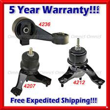 K046 For 02-06 Toyota Camry 2.4L Engine Motor /& Trans Mount Set 4PCS AUTO TRANS