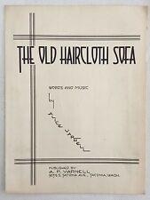 TACOMA, WASHINGTON sheet music THE OLD HAIRCLOTH SOFA piano & vocal 1936