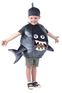 Feed Me Gray Shark Candy Catcher Child Boys Girls Costume NEW