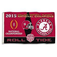 Alabama Crimson Tide 2015 National Champion 3' X 5' Flag-Roll Tide