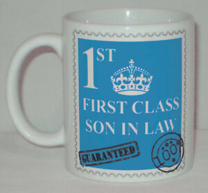 First Class Son In Law Mug Can Personalise Great Daughter Husband 1st Gift Cup