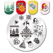 Christmas Nail Art Stamping Plate Image Template Nail Tool #01 BORN PRETTY