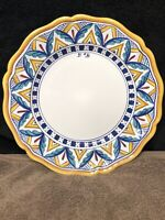 """Ceramiche Casola Positano Hand Painted in Italy 11"""" Dinner Plate MINT"""