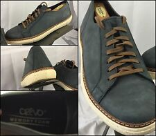 Crevo Palomino Size 12 Men Boat Shoes Blue Leather Made in India Mint YGI TR52