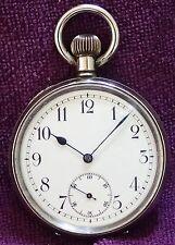 Tutto originale Omega SMALTO Dial Orologio da taschino intorno al 1900