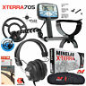 "Minelab X-Terra 705 Metal Detector with 9"" Search Coil Headphones and Carry Bag"
