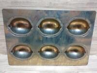 Chiyoda metal Lemon cake Madeleine mold 6P Baking sheet oven New Courier Ship
