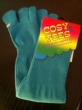 Toe Socks - cotton TURQUOISE  by Cosy Toes