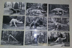 9 -1930's Dinosaur Postcards Ossineke Michigan Domke's Prehistorical Zoo Gardens