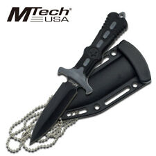 "Mtech 6.5"" Fixed Blade Survival Dagger Knife w/ Neck Sheath Necklace"