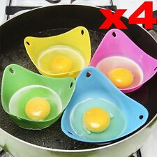 4pcs Silicone Egg Poacher Cook Poach Pods Kitchen Cookware Poached Baking Cup