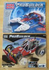 2 Mega Bloks ProBuilder 9788 Cyclone &9763 Dune Racer Instruction Manuals Only