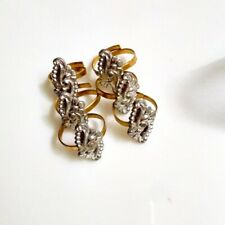 6 Pcs Indian Traditional Adjustable Toe Ring For Women Ethnic Bridal Jewelry