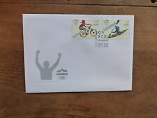 SLOVENIA 2016 RIO OLYMPIC GAMES SET 2 STAMPS FDC FIRST DAY COVER