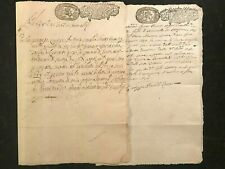 ANTIQUE Original MANUSCRIPT ITALY~SARDINIA~1697~Handwritten/Watermarks 3pg  #822