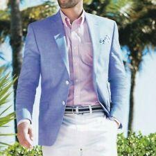 Lauren Ralph Lauren Men Blazer US Size 46L Men Suit Jacket 100% Linen Sport Coat