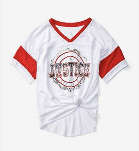 Justice Girls Sequin Softball Tee Size 10 Sports Shirt NWT💙💙💙