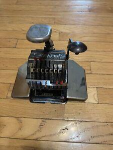 antique check writer