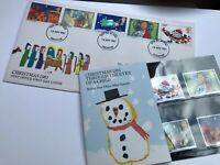 GB Christmas Stamps 1981 First Day Cover & Mint Stamp Set Postmark Leicester