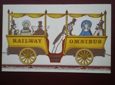 POSTCARD LIVERPOOL & MANCHESTER RAILWAY - OMNIBUS CARRIAGE