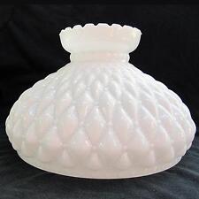"""10"""" Glass Shade oil kerosene lamp student OPAL D Quilt"""