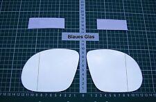 Außenspiegel Spiegelglas Ersatzglas Opel Corsa C M3 ab 2000-2006 L o R asph Blau