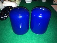 Rare Vintage Retro Salt and Pepper Shakers porcelain / ceramic large blue