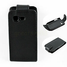Black Flip Leather Pouch Cover Case For SAMSUNG GALAXY POCKET NEO S5310 S5312