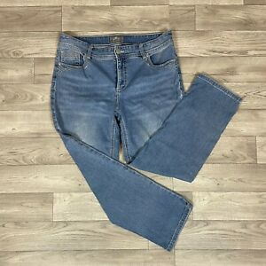 Women's Chico's So Slimming Light Wash Straight Leg Denim Jeans sz 1.5 (size 10)