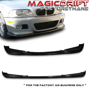 For 01-06 BMW E46 M3 only - H Style Front Bumper Chin Spoiler Lip Splitter Kit
