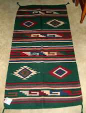 "Throw Rug / Tapestry Southwestern Hand Woven Wool 32x64"" 128 G"