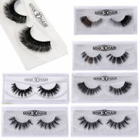 1 Pair Sexy Real 3D Mink Soft Long Natural Makeup Eye Lashes Thick False Eyelash