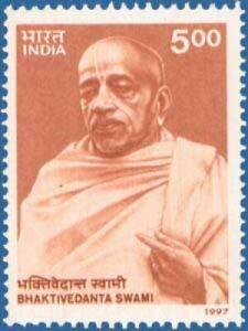 INDIA 1997 Swami A C Bhaktivedanta Hinduism Religion stamp 1v MNH