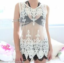 Sleeveless Lace Tank, Cami Regular Tops & Blouses for Women