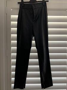 zara black faux leather pant size s