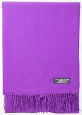 Free Shipping SOFT 2PLY 100% Cashmere Scarf Violet Purple Scotland Wool Plaid