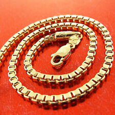 FSA244 GENUINE 18CT YELLOW G/F GOLD SOLID ITALIAN LINK PENDANT NECKLACE CHAIN