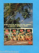 TOP989-PUBBLICITA'/ADVERTISING-1989- DEL MONTE - SUCCHI DI FRUTTA